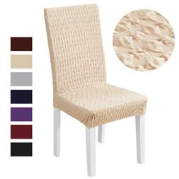 1/2/4/6x Spandex Knitted Diamond Chair Cover Stretch Dining