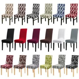 1/4/6Pc Spandex Stretch Chair Seat Covers Slipcovers Dining