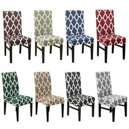 1/4/6Pc Wedding Banquet Chair Covers Spandex Stretch Seat Sl
