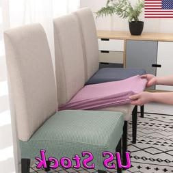 10pcs Removable Elastic Stretch Slipcovers Dining Spandex Ch
