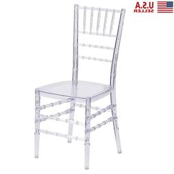 1Pcs Crystal Wedding Stacking Chiavari Chair Clear Side Dini