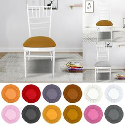 Home Dining Chair cushion cover Round Removable Elastic Stre