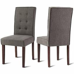 Giantex 2 Pcs Parson Dining Chair Living Room Bedroom Home S