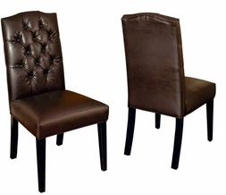 Christopher Knight Home 216284 Clark Leather Upholstered Din