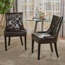 Christopher Knight Home 238459 Stacy Leather Dining Chair, B