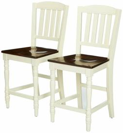 24/7 Shop at Home 247SHOPATHOME IDF-3216PC Dining-Chairs, Wh
