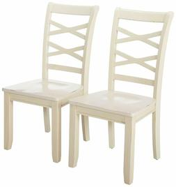 24/7 Shop at Home 247SHOPATHOME IDF-3528WH-SC Dining-Chairs,