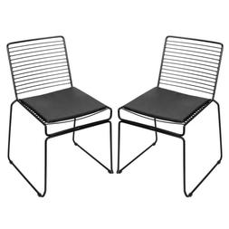 2pcs Simple Nordic Style Wire Chair Furniture for Living Roo