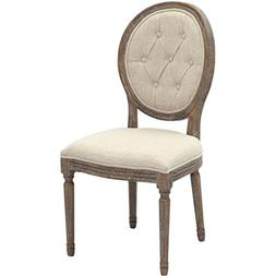 2xhome Cream Color Upholstered Button Tufted Back Fabric Pla