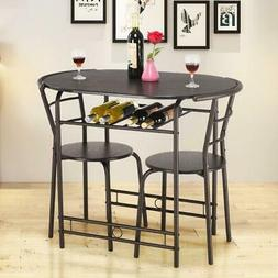 Giantex  3 PCS Dining Set Table and 2 Chairs Home Kitchen Br