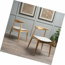 Christopher Knight Home 300006 Francie Beige Fabric with Oak