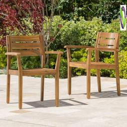 Christopher Knight Home 300518 Stann Outdoor Acacia Wood Pat