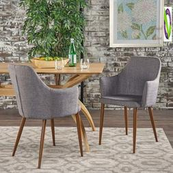 Christopher Knight Home 301733 Dining Chairs, Light Grey/Dar