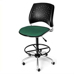OFM 326-DK-2201 Stars Swivel Stool with Fabric Seat