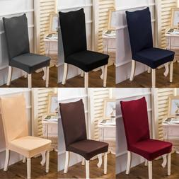 4/6x Solid Spandex Chair Cover Wedding Party Slipcover Banqu