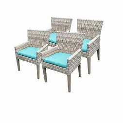 4 Fairmont Beige Dining Chairs With Arms