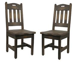 468.00 Set of 2 Barnwood Dining Chairs Handle Back Multi-Col