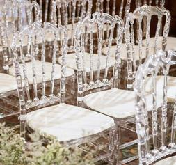 4Pcs Crystal Clear Wedding Event Stacking Heavy Duty Chiavar