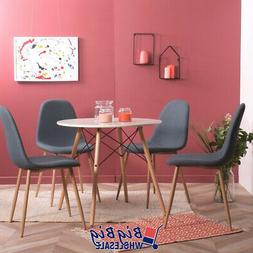4x blue dining chairs kitchen living room