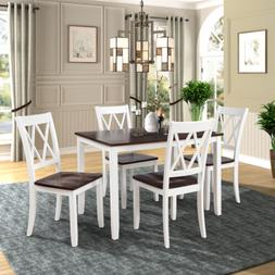 Dining Room Table Set Wooden Kitchen Tables And Chairs 5 Pie