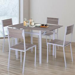 5 Piece Drop  Counter Height Dining Table and Chairs Set - L