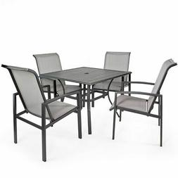 5-Piece Outdoor Patio Set Table and Chairs Dining 4 Chairs S