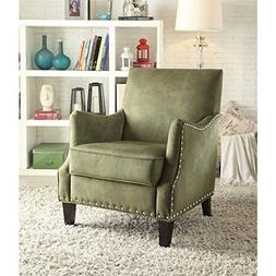 ACME Furniture 59446 Sinai Accent Chair, Olive Fabric