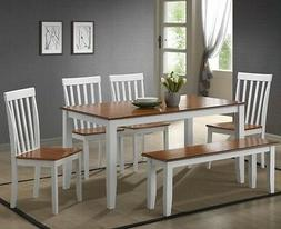 6 pc white dining room set kitchen