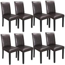 Set of 8 Urban Leather Dining Parson Chair Kitchen Formal El