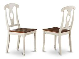 East West Furniture KEC-WHI-W Napoleon-Styled Dining Chair S