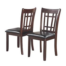 Lavon Dining Side Chairs with Padded Vinyl Seat Espresso and