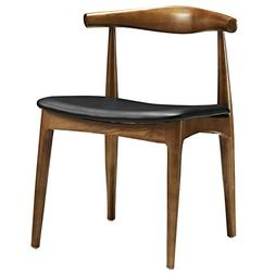 Modway Tracy Mid-Century Dining Side Chair With Faux Leather