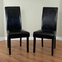 Monsoon Pacific Villa Faux Leather Dining Chairs, Black, Set