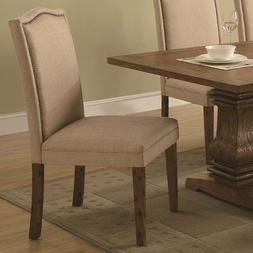 Parkins Parson Chairs Ivory and Rustic Amber