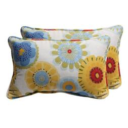 Pillow Perfect Decorative Multicolored Floral Rectangle Toss