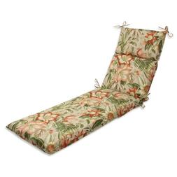 Pillow Perfect Outdoor Botanical Glow Tiger Stripe Chaise Lo