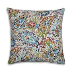Pillow Perfect Outdoor / Indoor Gilford Festival Blue 25-inc