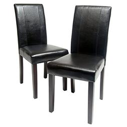 Roundhill Furniture Urban Style Solid Wood Leatherette Padde