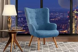 Accent Chair for Living Room, Upholstered Linen Arm Chairs w