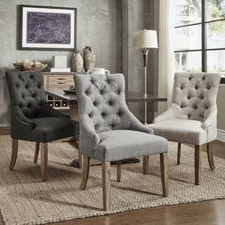 AccentChairs ForLivingRoom Set of 2 Button Tufts Wingb