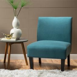 AccentChairsForLivingRoom Teal Modern Armless Fabric