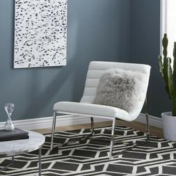 AccentChairsForLivingRoom White Leather Fancy Modern