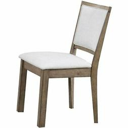 ACME Paulina Faux Leather Dining Side Chair in White and Rus