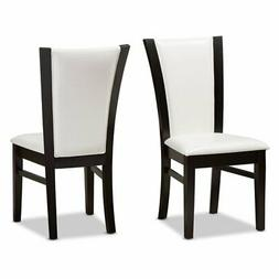 Baxton Studio Adley Upholstered High Back Dining Side Chair