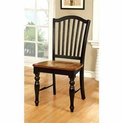 Furniture of America Antha Country Style Duo-Tone Dining Cha