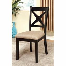 Furniture of America Argoyle 2-Piece Dining Side Chairs - Bl