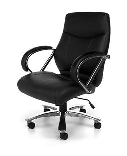 OFM Avenger Series Big and Tall Leather Executive Chair - Bl