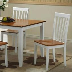Boraam Bloomington Dining Chairs, Set of 2, White and Honey