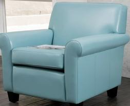Blue Leather Chairs for Living Room