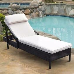 Brown Chaise Outdoor Lounge Chair